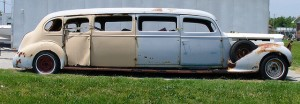 Rusted out limo